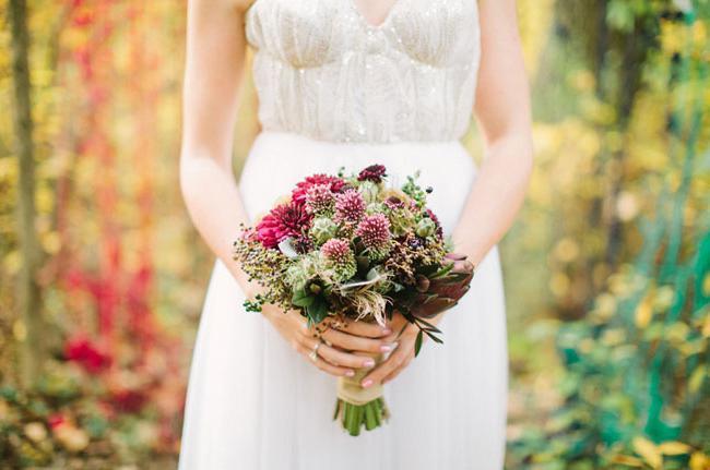 свадебный букет невесты в стиле бохо