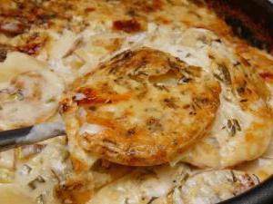 картофель сметана сыр