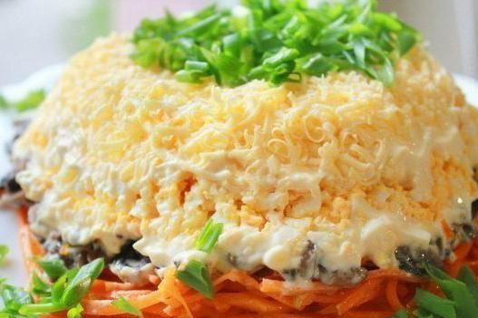 салат из тушеной моркови рецепт с фото
