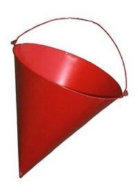 Почему пожарное ведро имеет форму конуса