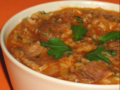 Суп харчо с картошкой и рисом рецепт с пошагово