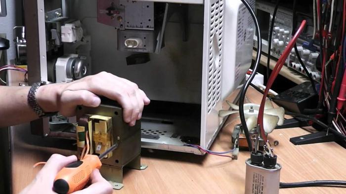 Ремонт своими руками видео микроволновой печи