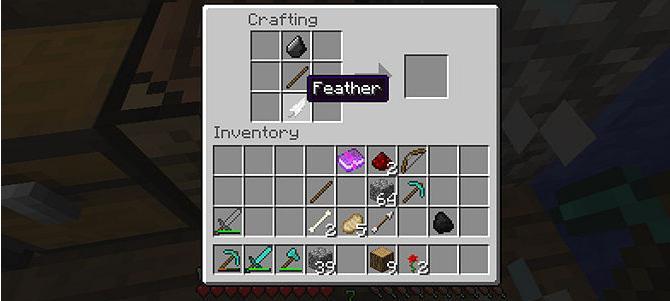 майнкрафт как сделать лук и стрелы