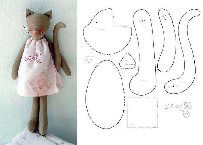 Как сшить кошку тильду из ткани