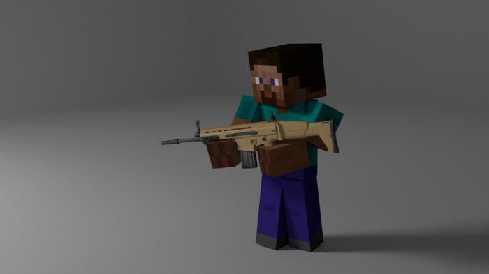 майнкрафт война с оружием
