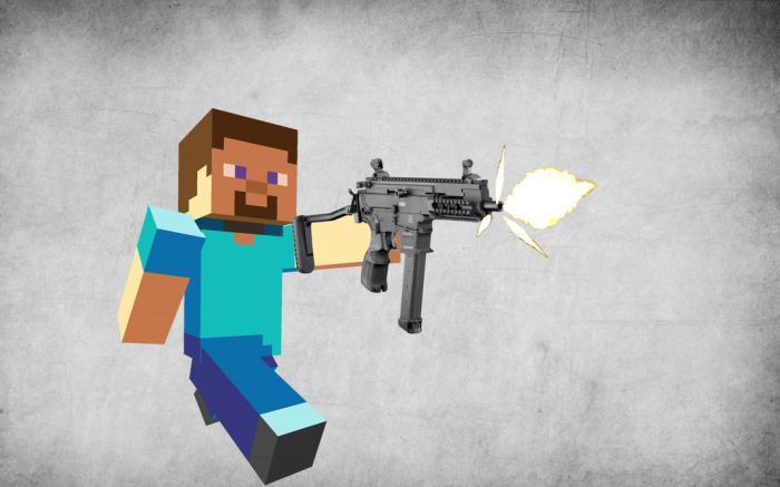 игры майнкрафт война с оружием