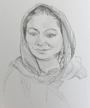 нарисовать лицо человека карандашом поэтапно
