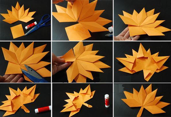 Как сделать листья своими руками из бумаги