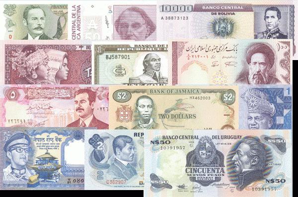 название денег разных стран мира
