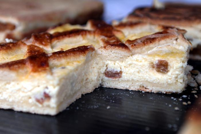 Пирог с творогом и изюмом рецепт пошагово в духовке
