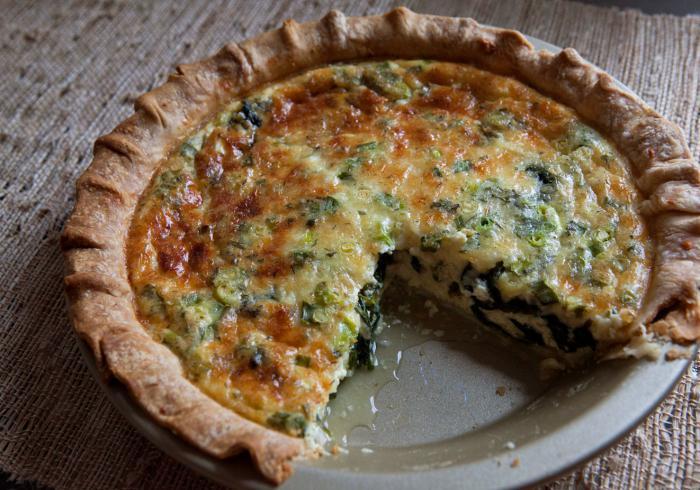 быстрый пирог с зеленым луком и яйцом на кефире