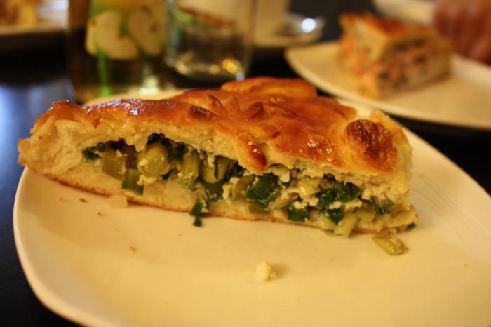 быстрый пирог с зеленым луком и яйцом в духовке пошаговый рецепт с фото