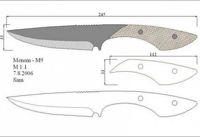 Как сделать нож своими руками чертежи