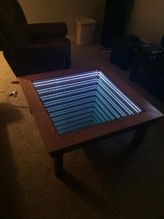 Как своими руками сделать стол с эффектом бесконечности своими руками