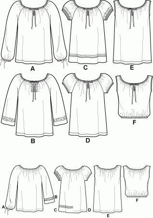 Как сшить блузку крестьянку своими руками для начинающих 127