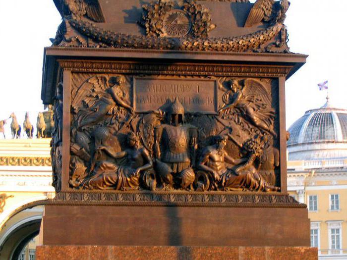 александровская колонна в санкт-петербурге кратко