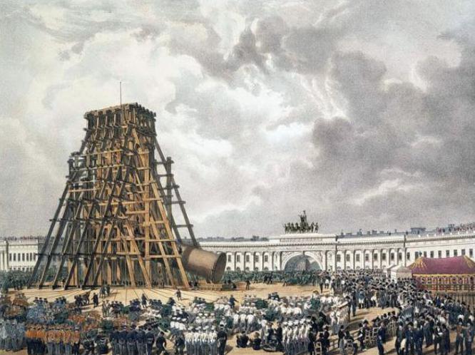 история александровской колонны в санкт петербурге