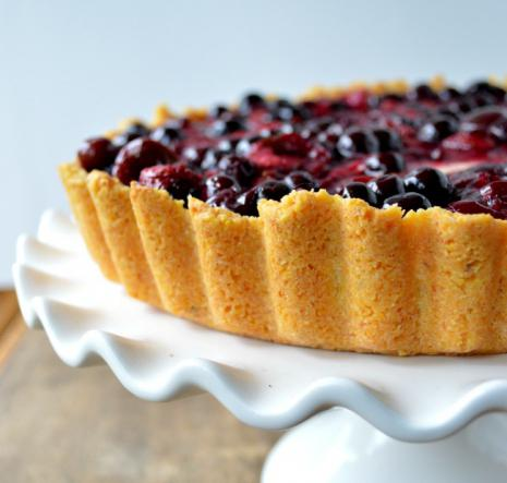 пирог с творогом и вишней рецепт с фото брауни