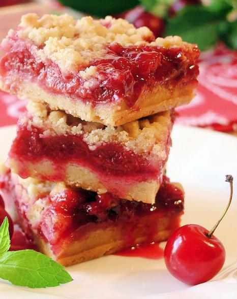 песочный пирог с творогом и вишней рецепт с фото