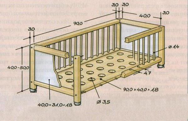 Сделать детскую кроватку своими руками чертежи