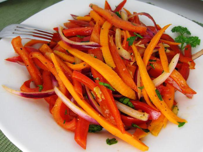 Салат перец помидор морковь