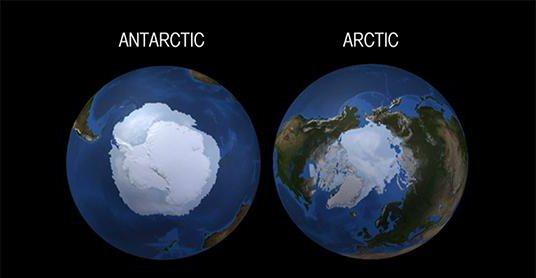 какой самый северный и самый южный материк