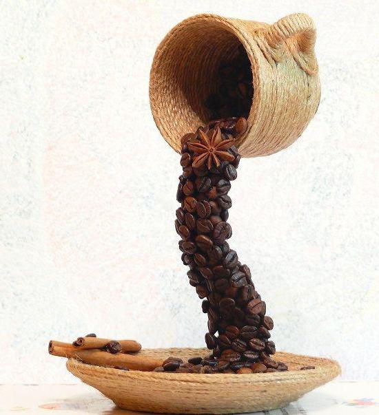чашка из кофейных зерен своими руками